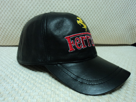 Ferrari Leather Hat / Cap