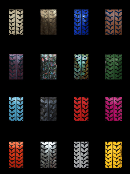Other Available Colours of Leather Leaf Jackets Design 09