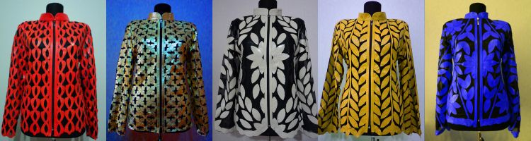 Click to See All Available Designs and Colors of Leather Leaf Jackets at Once