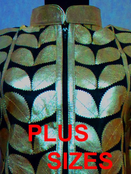 Available Colours of Plus Size Leather Leaf Jackets