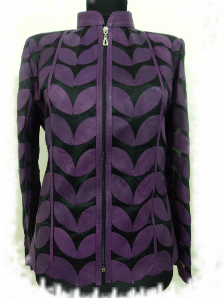 Women Plus Size Leaf Jacket